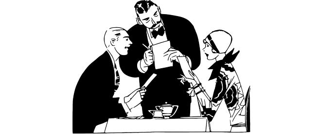 Inglês - Compreensão de texto Ordering at a restaurant