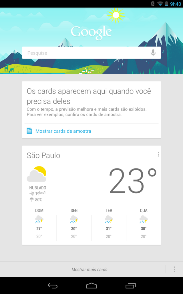 app Google Search em Android