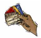 inglês: credit card