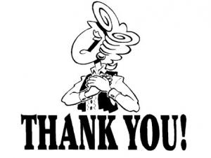 como dizer obrigado em inglês