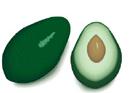 frutas em inglês abacate