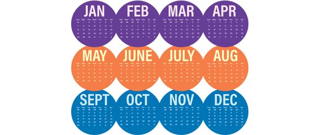Os meses do ano em inglês