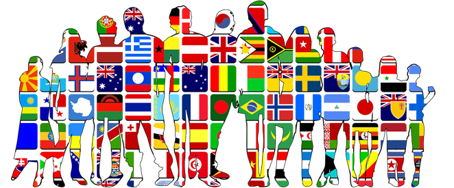 paises e nacionalidades em ingles